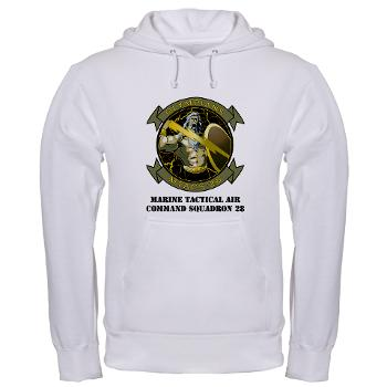 MTACS28 - A01 - 03 - Marine Tactical Air Command Squadron 28 (MTACS-28) with text Hooded Sweatshirt