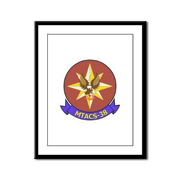 MTACS38 - M01 - 02 - Marine Tactical Air Command Sqdrn 38 Framed Panel Print