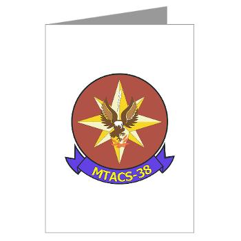MTACS38 - M01 - 02 - Marine Tactical Air Command Sqdrn 38 Greeting Cards (Pk of 20)