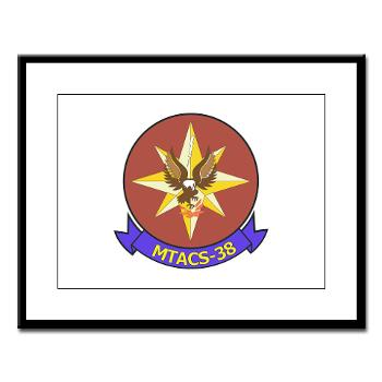 MTACS38 - M01 - 02 - Marine Tactical Air Command Sqdrn 38 Large Framed Print