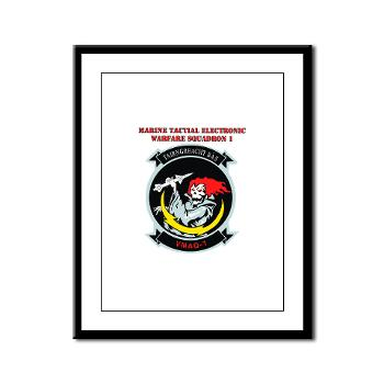 MTEWS1 - M01 - 02 - Marine Tactical Electronic Warfare Squadron with Text Framed Panel Print