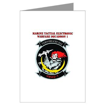 MTEWS1 - M01 - 02 - Marine Tactical Electronic Warfare Squadron with Text Greeting Cards (Pk of 10)
