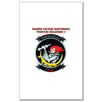 MTEWS1 - M01 - 02 - Marine Tactical Electronic Warfare Squadron with Text Mini Poster Print