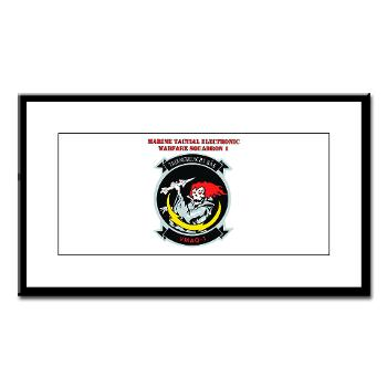 MTEWS1 - M01 - 02 - Marine Tactical Electronic Warfare Squadron with Text Small Framed Print