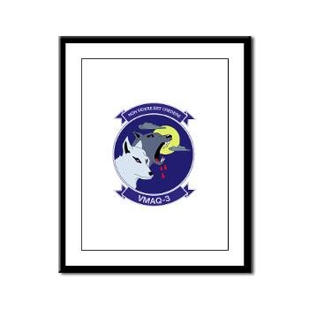 MTEWS3 - M01 - 02 - Marine Tactical Electronic Warfare Squadron 3 - Framed Panel Print