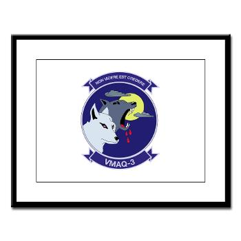 MTEWS3 - M01 - 02 - Marine Tactical Electronic Warfare Squadron 3 - Large Framed Print