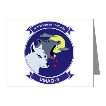 MTEWS3 - M01 - 02 - Marine Tactical Electronic Warfare Squadron 3 - Note Cards (Pk of 20)