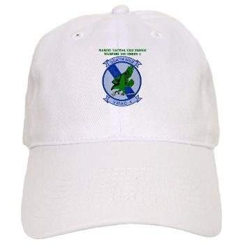MTEWS4 - A01 - 01 - Marine Tactical Electronic Warfare Squadron 4 with Text - Cap