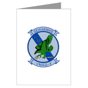 MTEWS4 - M01 - 02 - Marine Tactical Electronic Warfare Squadron 4 - Greeting Cards (Pk of 10)