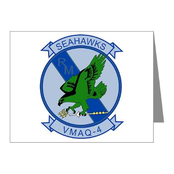 MTEWS4 - M01 - 02 - Marine Tactical Electronic Warfare Squadron 4 - Note Cards (Pk of 20)