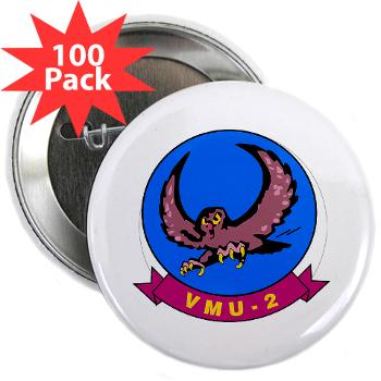 "MUAVS2 - M01 - 01 - Marine Unmanned Aerial Vehicle Squadron 2 (VMU-2) - 2.25"" Button (100 pack)"
