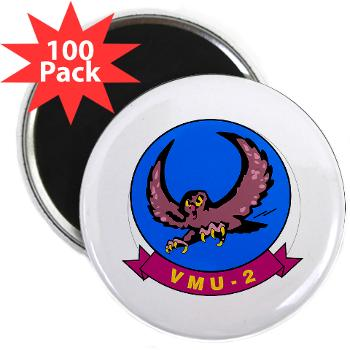 "MUAVS2 - M01 - 01 - Marine Unmanned Aerial Vehicle Squadron 2 (VMU-2) - 2.25"" Magnet (100 pack)"