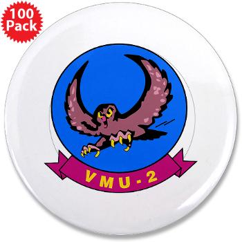 "MUAVS2 - M01 - 01 - Marine Unmanned Aerial Vehicle Squadron 2 (VMU-2) - 3.5"" Button (100 pack)"