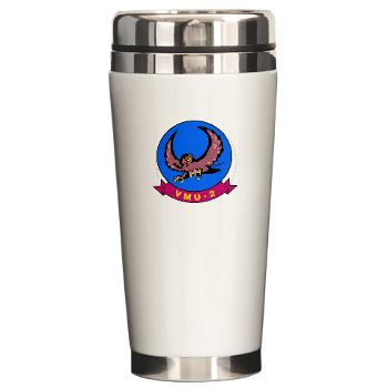 MUAVS2 - M01 - 03 - Marine Unmanned Aerial Vehicle Squadron 2 (VMU-2) - Ceramic Travel Mug