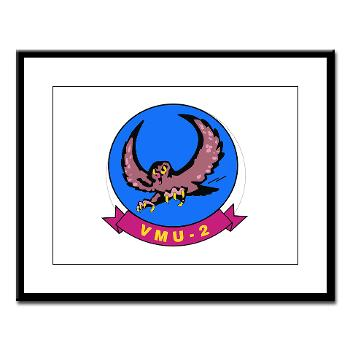 MUAVS2 - M01 - 02 - Marine Unmanned Aerial Vehicle Squadron 2 (VMU-2) - Large Framed Print