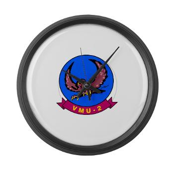 MUAVS2 - M01 - 03 - Marine Unmanned Aerial Vehicle Squadron 2 (VMU-2) - Large Wall Clock