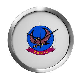 MTEWS2 - M01 - 03 - Marine Unmanned Aerial Vehicle Squadron 2 (VMU-2) - Modern Wall Clock