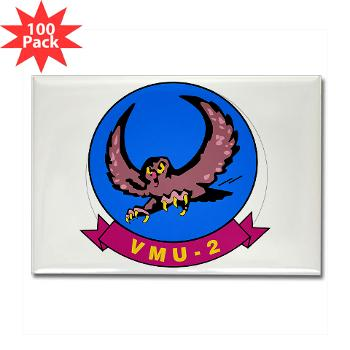 MUAVS2 - M01 - 01 - Marine Unmanned Aerial Vehicle Squadron 2 (VMU-2) - Rectangle Magnet (100 pack)