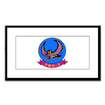 MUAVS2 - M01 - 02 - Marine Unmanned Aerial Vehicle Squadron 2 (VMU-2) - Small Framed Print