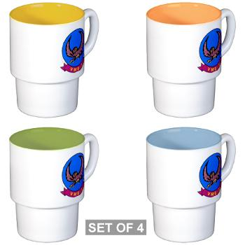 MUAVS2 - M01 - 03 - Marine Unmanned Aerial Vehicle Squadron 2 (VMU-2) - Stackable Mug Set (4 mugs)