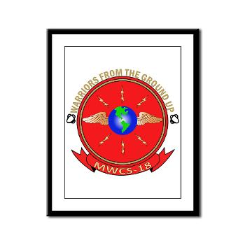 MWCS18 - M01 - 02 - Marine Wing Communications Squadron 18 Framed Panel Print