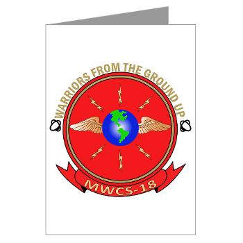 MWCS18 - M01 - 02 - Marine Wing Communications Squadron 18 Greeting Cards (Pk of 10)