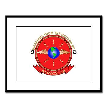 MWCS18 - M01 - 02 - Marine Wing Communications Squadron 18 Large Framed Print