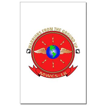 MWCS18 - M01 - 02 - Marine Wing Communications Squadron 18 Mini Poster Print