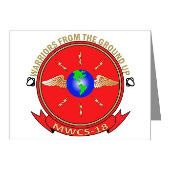 MWCS18 - M01 - 02 - Marine Wing Communications Squadron 18 Note Cards (Pk of 20)