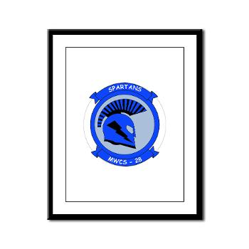 MWCS28 - M01 - 02 - Marine Wing Communications Squadron 28 (MWCS-28) Framed Panel Print