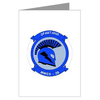 MWCS28 - M01 - 02 - Marine Wing Communications Squadron 28 (MWCS-28) Greeting Cards (Pk of 10)
