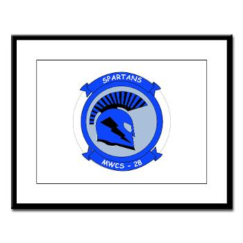 MWCS28 - M01 - 02 - Marine Wing Communications Squadron 28 (MWCS-28) Large Framed Print