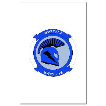 MWCS28 - M01 - 02 - Marine Wing Communications Squadron 28 (MWCS-28) Mini Poster Print