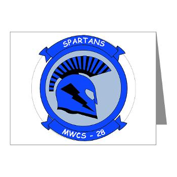 MWCS28 - M01 - 02 - Marine Wing Communications Squadron 28 (MWCS-28) Note Cards (Pk of 20)