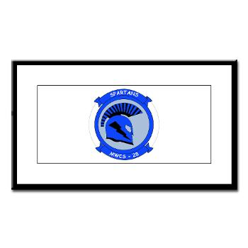 MWCS28 - M01 - 02 - Marine Wing Communications Squadron 28 (MWCS-28) Small Framed Print