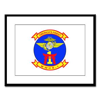 MWHS1 - M01 - 02 - Marine Wing Headquarters Squadron 1 - Large Framed Print