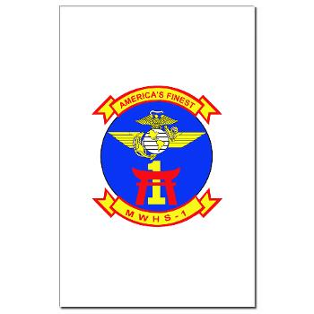 MWHS1 - M01 - 02 - Marine Wing Headquarters Squadron 1 - Mini Poster Print