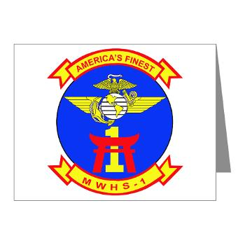 MWHS1 - M01 - 02 - Marine Wing Headquarters Squadron 1 - Note Cards (Pk of 20)
