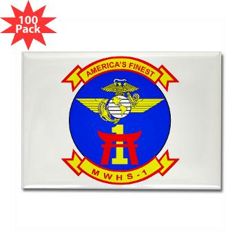 MWHS1 - M01 - 01 - Marine Wing Headquarters Squadron 1 - Rectangle Magnet (100 pack)