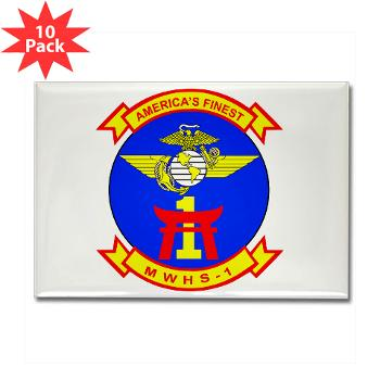 MWHS1 - M01 - 01 - Marine Wing Headquarters Squadron 1 - Rectangle Magnet (10 pack)