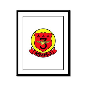 MWHS3 - M01 - 02 - Marine Wing Headquarters Squadron 3 - Framed Panel Print