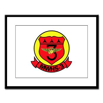 MWHS3 - M01 - 02 - Marine Wing Headquarters Squadron 3 - Large Framed Print