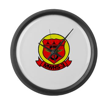 MWHS3 - M01 - 03 - Marine Wing Headquarters Squadron 3 - Large Wall Clock
