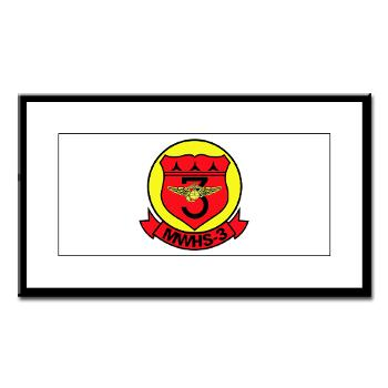 MWHS3 - M01 - 02 - Marine Wing Headquarters Squadron 3 - Small Framed Print