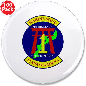 "MWLK - M01 - 01 - Marine Wing Liaison Kadena 3.5"" Button (100 pack)"