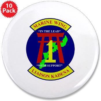 "MWLK - M01 - 01 - Marine Wing Liaison Kadena 3.5"" Button (10 pack)"