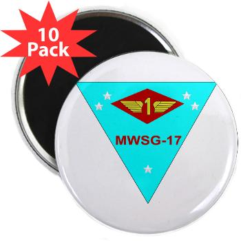 "MWSG17 - M01 - 01 - Marine Wing Support Group 17 2.25"" Magnet (10 pack)"