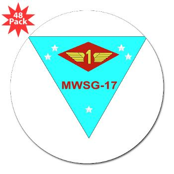 "MWSG17 - M01 - 01 - Marine Wing Support Group 17 3"" Lapel Sticker (48 pk)"
