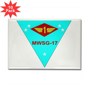 MWSG17 - M01 - 01 - Marine Wing Support Group 17 Rectangle Magnet (10 pack)