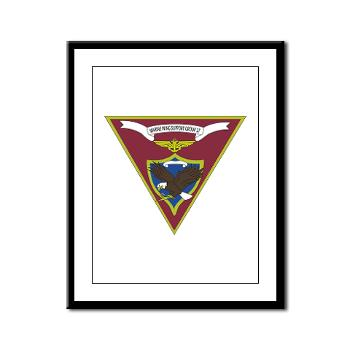MWSG27 - A01 - 01 - USMC - Marine Wing Support Group 27 (MWSG-27) - Framed Panel Print